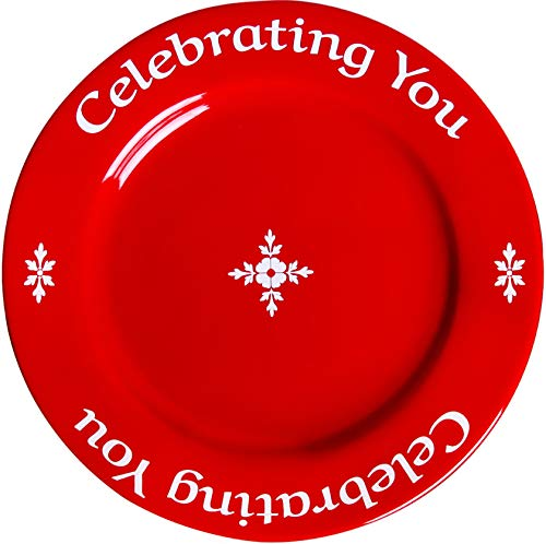 Celebrating You Red Plate in Gift Box, The Plate that Gives Back