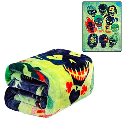 JPI Plush Throw Blanket - Suicide Squad - Twin Bed 60'x 80'...