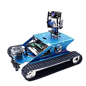 Yahboom Professional Raspberry Pi Smart Robot Kit Camera Programming Electronic DIY Tank Robotics Kit for Teens and Adults Compatible Pi 4B Model 3B+ 3B(Raspberry Pi NOT Include)
