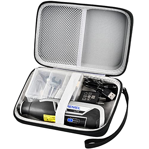 Case Compatible with Dremel Lite 7760 N/10 4V Multi-Purpose Rotary Tool Kit, Hard Carrying Storage Bag Organizer Fit for USB Charging Cable and Accessory Set (Box Only)