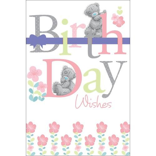 Me to You Geburtstagskarte–Tatty Teddy Schleife & Blumen 22,9x 15,2cm Code a01mz061