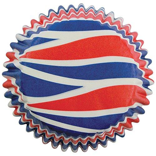 PME - Caissettes à Cupcakes en Papier à Tourbillons Patriotiques, Dimensions Standard, Lot de 60