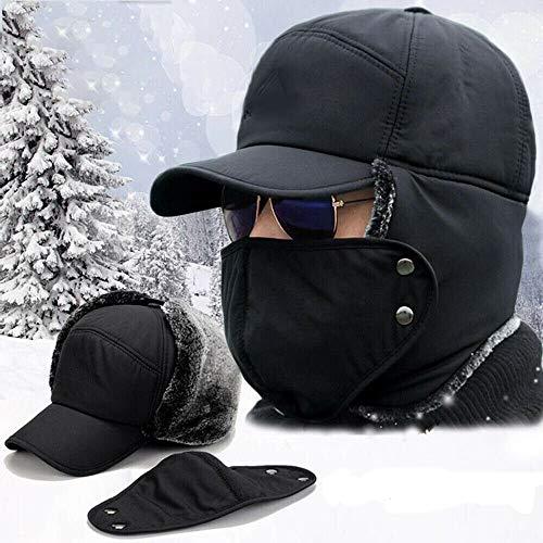 TOWELL Men Women Winter Warm Hat Ear Flap Trapper Bomber Aviator Trooper Ski Mask Cap (Gray)