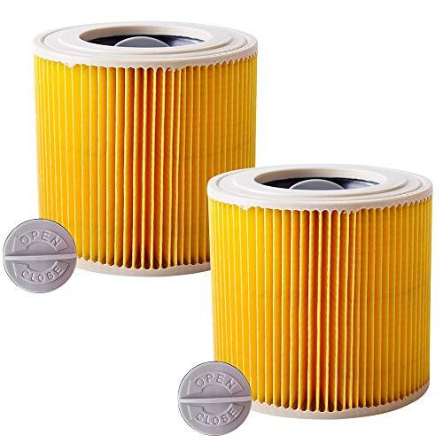 Kärcher - Juego de 2 cartuchos de filtro de repuesto compatibles con aspirador Kärcher agua y polvo WD2 WD3 WD3P