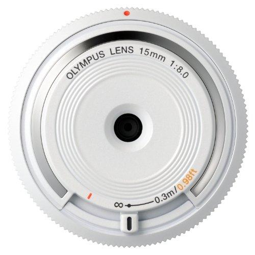 Olympus 15 mm f:8 - Objetivo para Micro Cuatro tercios (Diámetro de 56 mm), Color Blanco