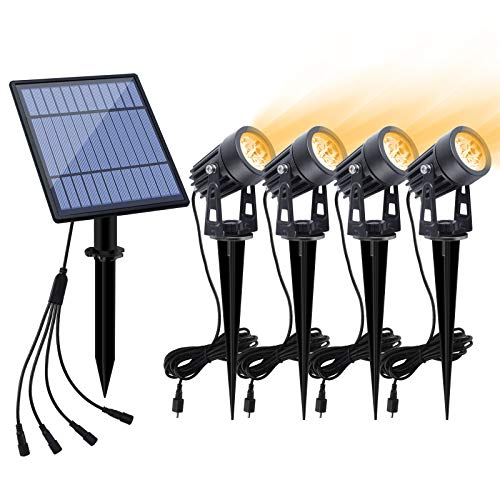APONUO Solar Spotlights Landscape Lights Low Voltage Outdoor...
