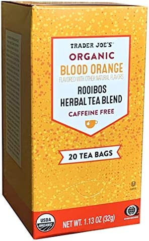 Trader Joes Organic Blood Orange Rooibos Herbal Tea Blend Flavored with other Natural Flavors product image