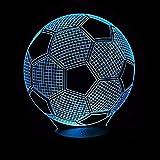 Fußball 3D USB/Led Nachtlichter 7 Bänder mit Touch-Tasten Variable Lichter Kinderzimmer...