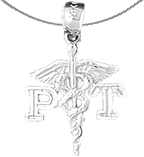 """Jewels Obsession Silver Pt Physical Therapy Necklace 