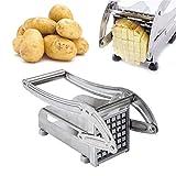 yqs Rebanadora Cortador de Patata Manual de Acero Inoxidable Fries Frisas Slicer Patatas Fichas Maker Picador de Carne Dicer Máquina de Corte Herramientas para Cocina (Color : 1pc)
