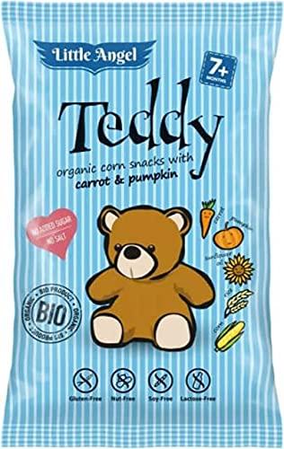 CIBI Chrupki kukurydziane mini TEDDY marchew i dynia od 7 miesiąca BEZGL. (30g) - BIO