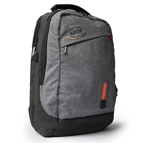 """Artix Power Bank Water Resistant Backpack For Laptops and Smart Devices 7000mAh, Lightweight, Multipurpose, Fits Laptops Up To 15.6"""" (Dark Grey)"""