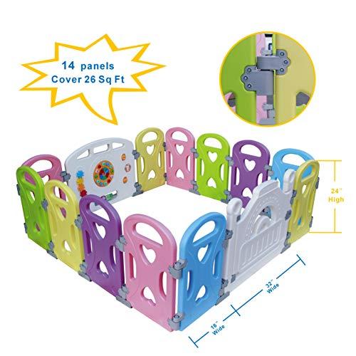 Parc Bébé barriere de securite parc enfant Barrière Securitè avec panneau d'activités Jeu...