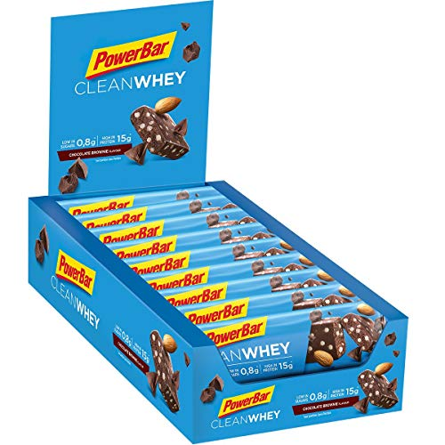 PowerBar Clean Whey Chocolate Brownie 18x45g - High Protein Low Sugar Riegel