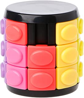 Wytinug Decompression Magic Cube Hand Spin Anti-Stress DIY Cylinder Puzzle Education Toy