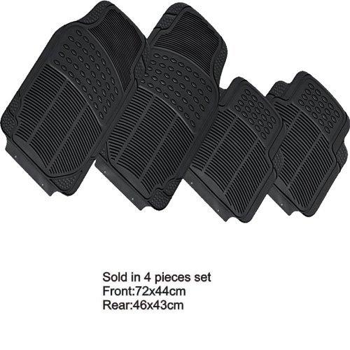 Voor Wall complete set voor auto zwart met sjablonen voor 4 stuks, ANT: 72 x 44 cm, POS: 46 x 43 cm, van rubber