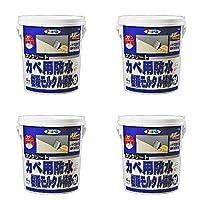 アサヒペン コンクリートカベ用防水樹脂モルタル 4KG C006グレー系 4個セット