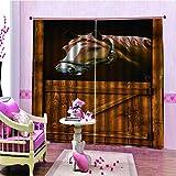 Cocorn Gardine mit Pferdemotiv, 150 x 166 cm, für Zuhause, Schlafzimmer, Wohnzimmer, Hotel, dekorativer Vorhang