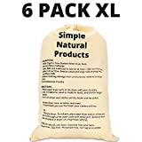 Simple Natural Products Wool Dryer Balls Handmade (6 XL Pack) Fabric Softener Ball for Sensitive Skin - Helps...