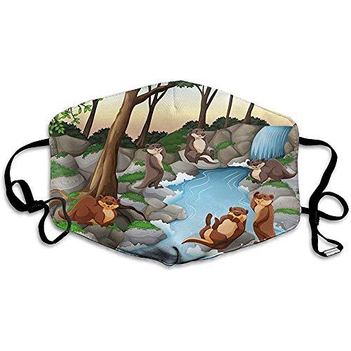 Verstelbare Mond Maskers voor Stof Familie Dier Zwem Winddicht Gezichtsmasker Modieuze Cover