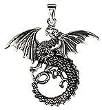 Grand Dragon Pendentif en argent sterling 925N ° 236