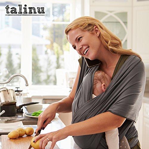 TALINU Babytragetuch – atmungsaktiv und elastisch – 520 x 55 cm - 5