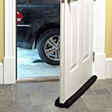4square Under Door Twin Draft Guard Cover Stop Light Dust Cool Air Escape Protector 1 pc Black Color