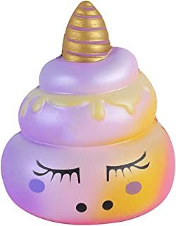 Mikilon Kawaii Soft Emoji Poo Squishy Cream Scented Stress Relif Toy, Decorative Props Gift Hand