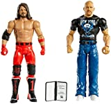 WWE Stone Cold Steve Auston vs AJ Styles Battle Pack Series #67 with Two 6-inch Articulated Action Figures & Ring Gear