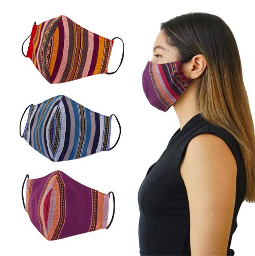 Joob Joob Colorful Face Mask for Women and Men - Reusable Breathable Face Masks for Protection - 2 Layer Unisex Cloth Cotton Masks