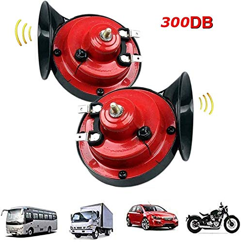 yhsndy 300db Train Horn for Trucks,Loud Air Electric Snail Single Horn,Waterproof Motorcycle Snail Horn,12v Double Horn Raging Sound Raging Sound for Car Motorcycle