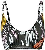 O'NEILL Bikini para Mujer PW Caipi Top, Mujer, Bikini, 0A8552, Green AOP W/Pink Or Purple, 36
