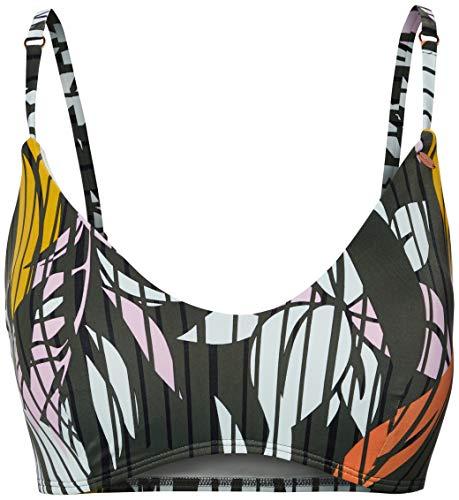 O'NEILL Bikini para Mujer PW Caipi Top, Mujer, Bikini, 0A8552, Green AOP W/Pink Or Purple, 34