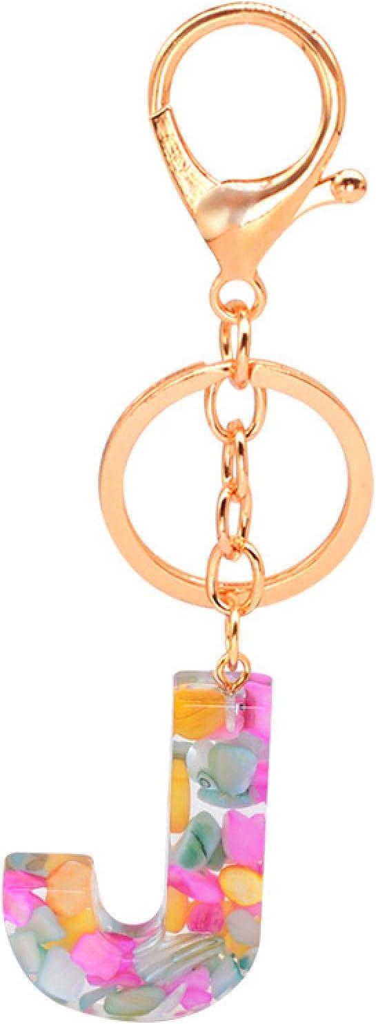 Ranking TOP11 SZLGPJ 26 English Crystal Epoxy Letter Pe Jewelry Keychain Bombing free shipping Resin