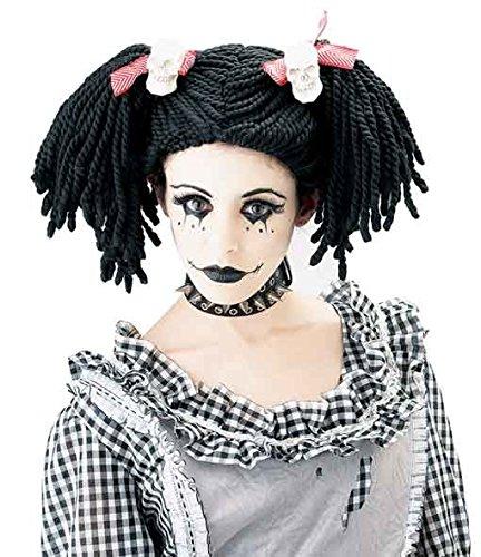 Horror-Shop Poupée Gothique Enfant Perruque
