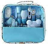 Kit de cuidado diario del bebé, kit de cuidado del bebé, 14 piezas, set de aseo para recién nacidos, accesorios esenciales para el cuidado de la salud para viajar o uso doméstico azul azul