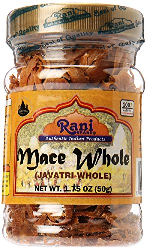 Rani Mace Whole (Javathri), Spice 1.75oz (50g) PET Jar ~ All Natural | Vegan | Gluten Friendly | NON-GMO | Indian Origin