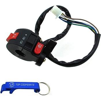 XtremeAmazing Left Handlebar Switch with Choke Lever 3 Functions Assembly for 50cc 70 cc 90cc 110 cc 125cc 150cc ATV Quad 4 Wheeler Taotao
