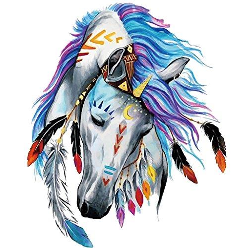 Jiamins 1 Stück Patch Sticker - Pferd, DIY Druck Stickerei Applikation Für Decoreting Und Patching Jacket,T-Shirt,Hut,Kleid (18x23cm)