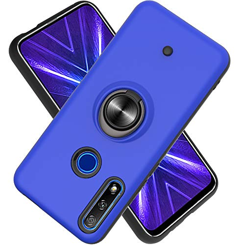 Hülle für Huawei Enjoy 10 Plus mit Standfunktion, Dekomprimierungsknopf, Rotationsgyroskop, PC + TPU Handyhülle Stossfest Case -Navy blau