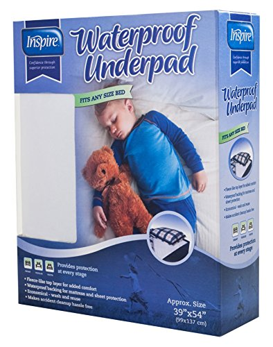 Inspire Waterproof Underpad, 39 Inches X 54 Inches