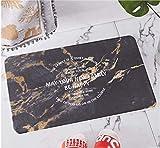 Reticolo: reticolo geometrico Stile: moderno semplice Dimensioni: 35 × 45 cm Facile da pulire con un rapido risciacquo o in lavatrice. Il tappetino da bagno può essere arrotolato e riposto facilmente. Porta un nuovo tocco decorativo al tuo ingresso, ...