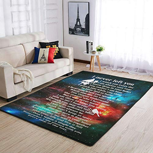 Chreey Life I Never Left You Area Rug Retro Easy Wash - Bedroom Mat For Party white 91x152cm