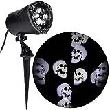 Gemmy Halloween Light Projector, Whirling Skulls LED Spotlight Projection Kaleidoscope Light Show