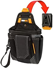 ToughBuilt - Warehouse Tool Pouch | 9 Pockets and Loops Covered Cell Phone Holder Tape Measure Clip Notebook Holster Premium Multi-Tool Organizer (Patented ClipTech Hub & Belts) (TB-CT-32-A)