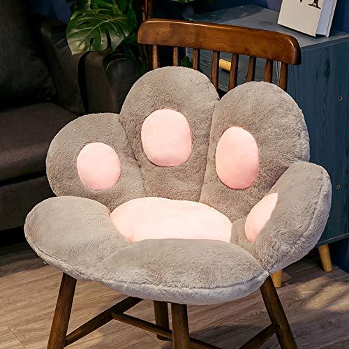 Dreafly Cojín de Asiento de Oficina de sofá Perezoso con Forma de Pata de Gato Lindo cojín de Asiento cálido y Acogedor para Oficina en casa