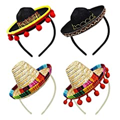 Material: these cute mini sombreros are made of straw and fabric, breathable, lightweight and comfortable to wear, in addition, it will immediately get back into its initial shape when deformed Cute design: our mini sombrero hats are designed in Mexi...