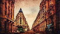 数字によるデジタル絵画油絵具DIYキット大人のためのキャンバスの家の壁の装飾初心者-パリフランスビルスカイストリート40×50cm(フレームレス)