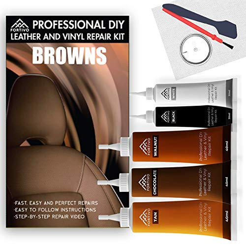 Leather Repair Kits for Couches Brown - Vinyl Repair Kit, Leather Repair Kit, Furniture Repair Kit -...