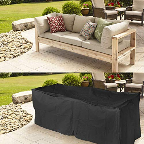 Mihoutao Garden Furniture Covers, Rectangular Patio Table Cover Durable Waterproof Rain Snow Dust Wind-Proof Anti-UV for Outdoor Furniture Set (Size : 170x94x70CM)